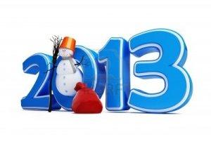 14439485-pupazzi-di-neve-nuovo-anno-2013-su-uno-sfondo-bianco