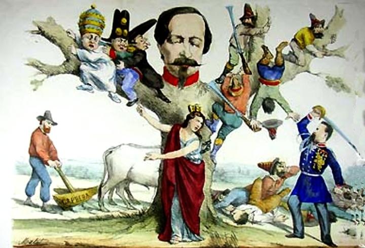 Allegoria dell'Italia fra il 1861 e il 1860