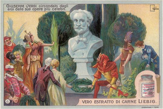 Verdi e i suoi personaggi - Figurine Liebig
