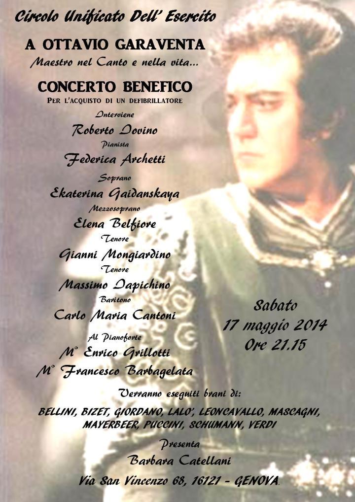 Locandina Concerto Benefico