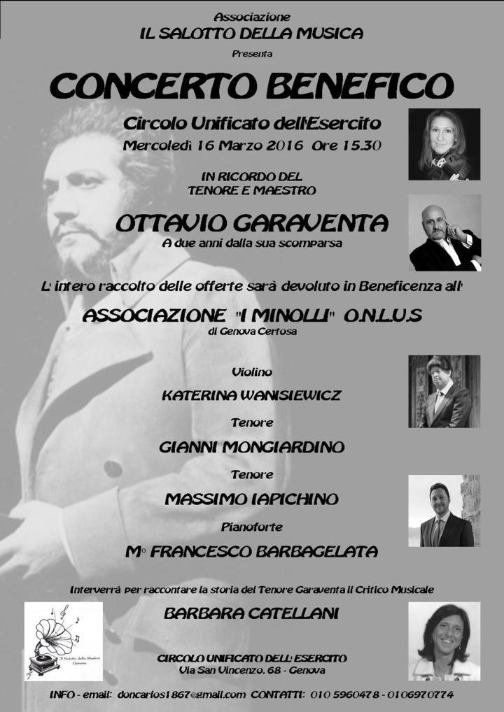 CONCERTO BENEFICO 16 Marzo 2016